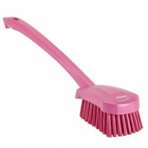 Vikan 4186 Washing Brush with Long Handle, 415mm, Hard, in 8 Colours