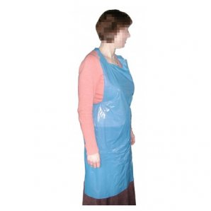 Disposable Blue Polythene Aprons.