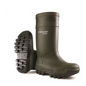 Dunlop Purofort Thermo+ Green Wellington Boots