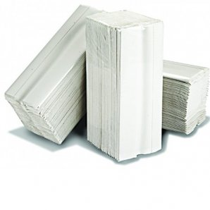 HT8301 Essentials White Z-Fold 2 Ply Paper Hand Towels