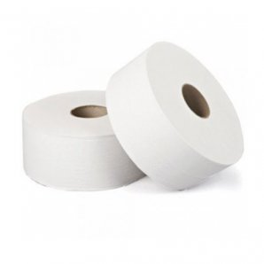JT9000 White Jumbo Toilet Roll, 325m, 2ply