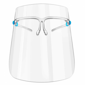 Face Shield Protective Visor with Glasses Frame