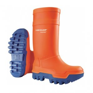 Dunlop Purofort Thermo+ Orange Wellington Boots