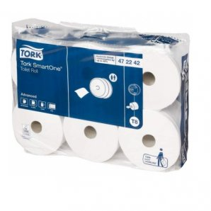 Tork Smart One Toilet Rolls, 6 Rolls per case